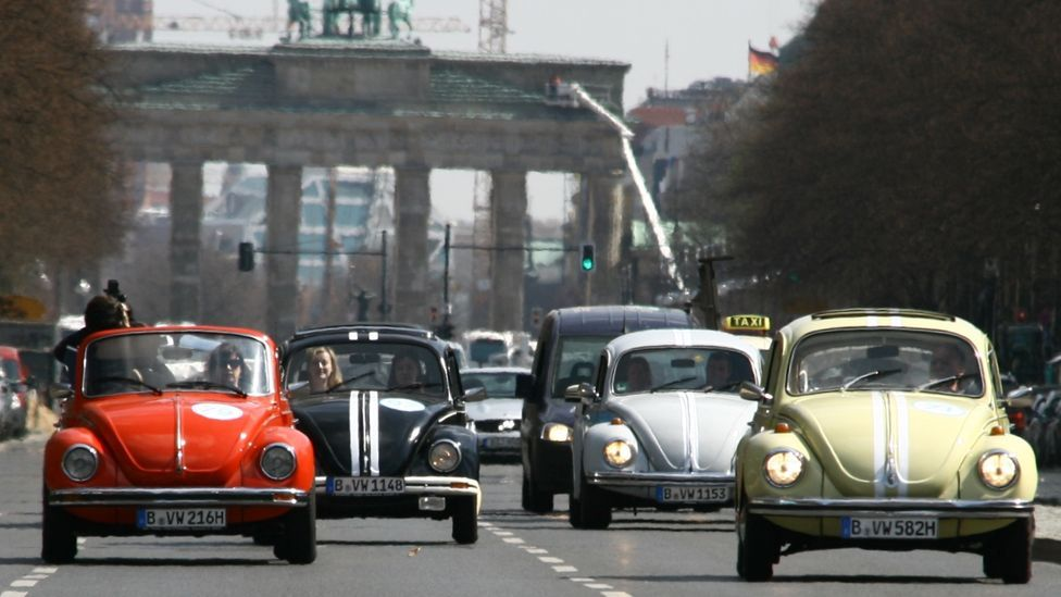 The VW Beetle became the most-produced car in automotive history, with 40 million rolling off production lines between 1945 and 2003. (Getty Images)