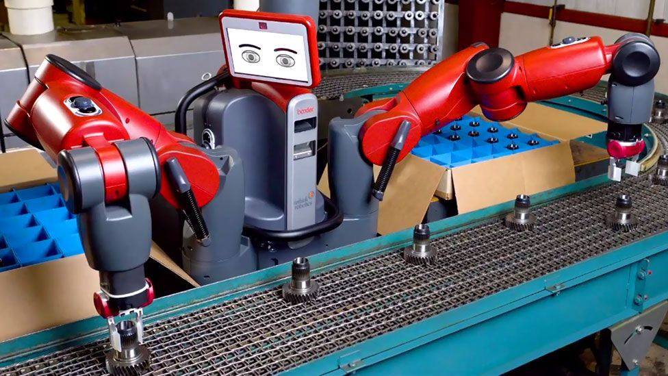 Baxter is Rethink Robotics design for a learning robot; the automaton can learn simple tasks by observing humans around it. (Copyright: Rethink Robotics)
