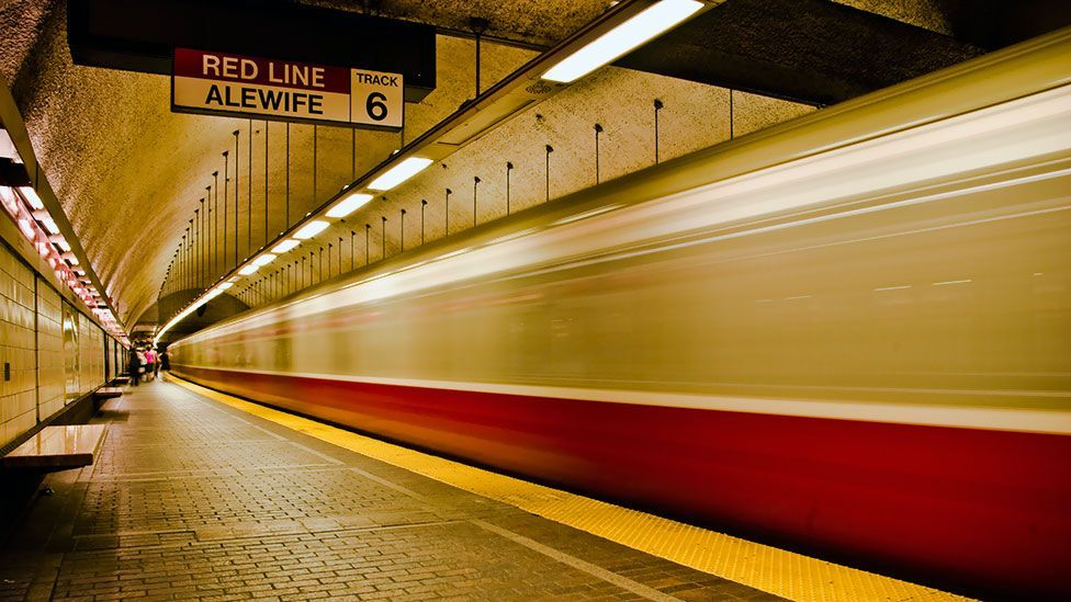 Much of Boston's new tech community is centred around stations on the Red Line, which runs from Alewife in Cambridge down to Braintree south of Boston. (Copyright: Idntfd/Flickr)