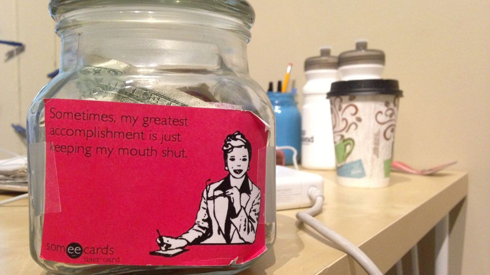 Employees contribute to the 'Jerk Jar' for a variety of offences, including messy desks and talking too loudly. (Influence and Co)