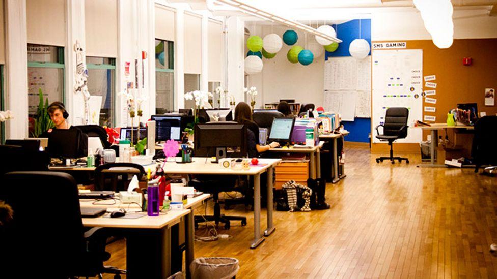 The shared office space at Dosomething.org (Photo courtesy Dosomething.org)