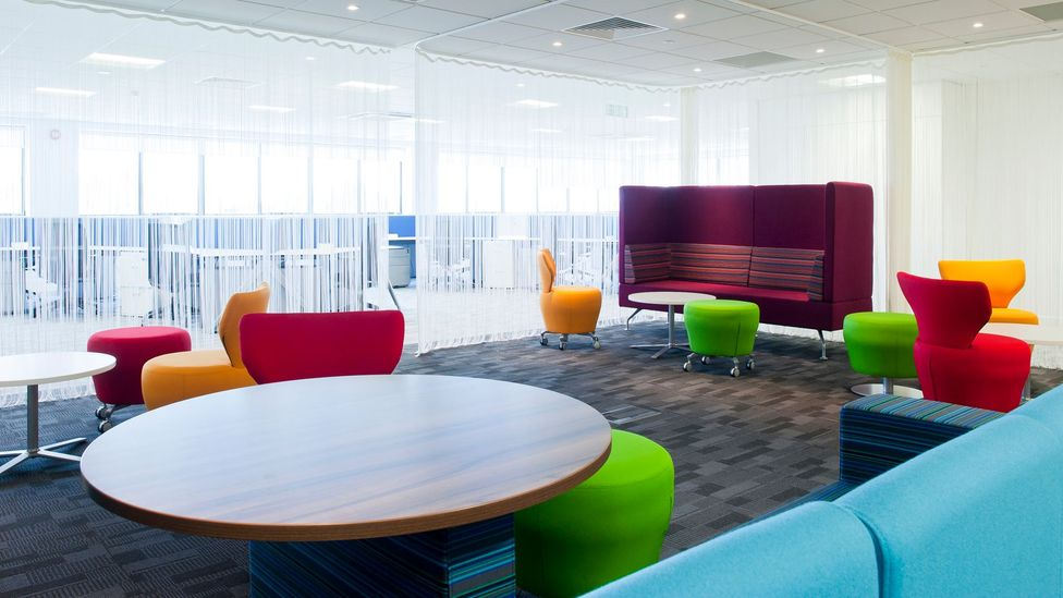 The shared space at office headset headquarters Plantronics. (Photo courtesy Plantronics)