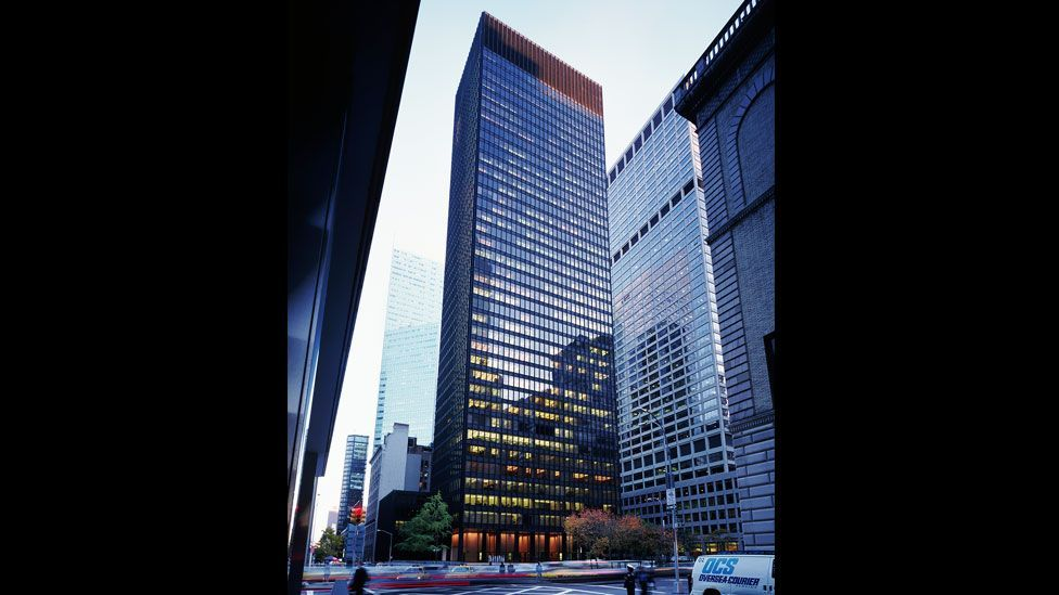 Mies van der Rohe became a US citizen in 1944. He designed the famous bronze Seagram Building in New York City. (Corbis)