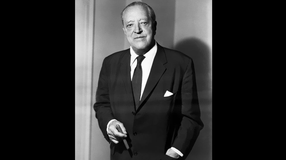 Ludwig Mies van der Rohe (pictured in 1958) was entrusted with all of the buildings of the German Pavilion at the exhibition. (Corbis)