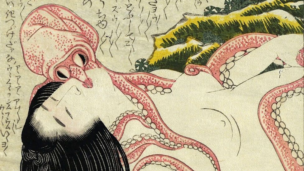 Katsushika Hokusai's 1814 erotic woodblock is commonly known in the West as Dream of the Fisherman's Wife. (British Museum)