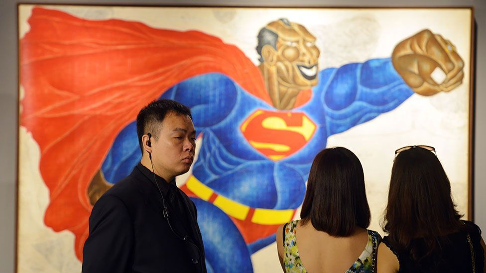 Works by contemporary Asian artists like Indonesia's Nyoman Masriadi, were included in the sale. (Getty)