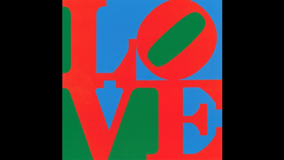 It is the pop artist's most famous painting but Robert Indiana's LOVE began as a 1965 Christmas card design for New York's Museum of Modern Art. (Morgan Art Foundation)
