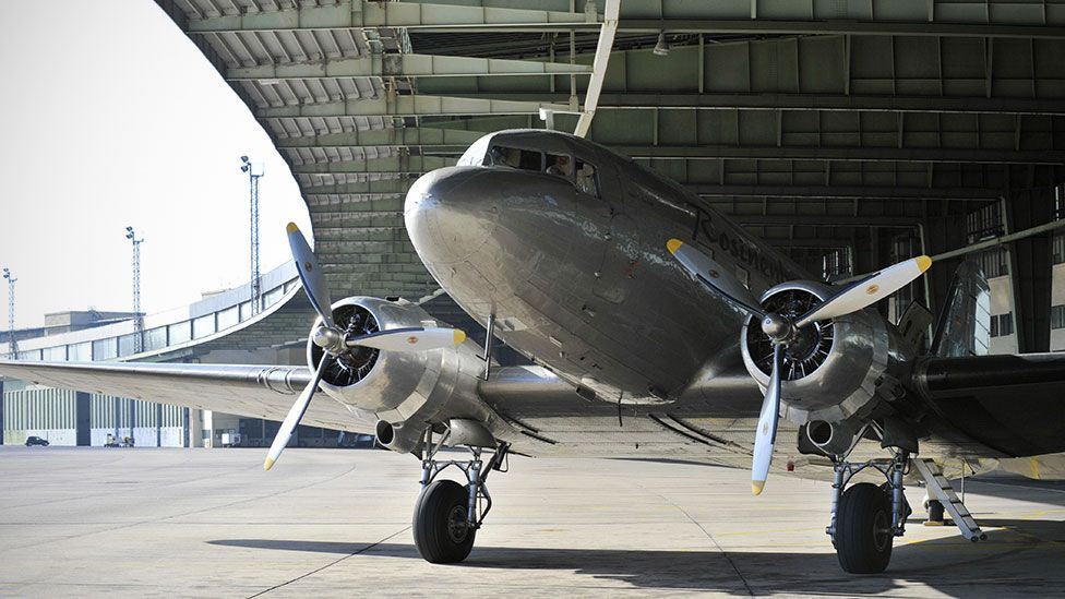 After World War II, the DC-3's iconic status was cemented; RAF DC-3s helped keep the people of West Berlin fed during the Berlin Airlift of 1949. (AFP/Getty)