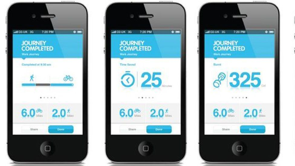 Reroute.it allows people to plan a journey, factoring in variables such as time, cost, calories burned and any emissions from the journey. (Copyright: Reroute.it)