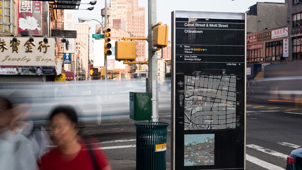 WalkNYC is a scheme to make Manhattan and parts of Brooklyn as walkable as possible, giving pedestrians extra information to plan a route. (Copyright: New York City Government)