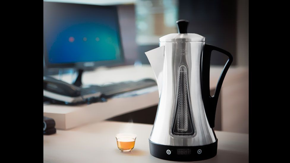 One successful start-up is Yatooq; its modern update of the Arabic coffee-maker was an instant hit with Saudi customers. (Yatooq)