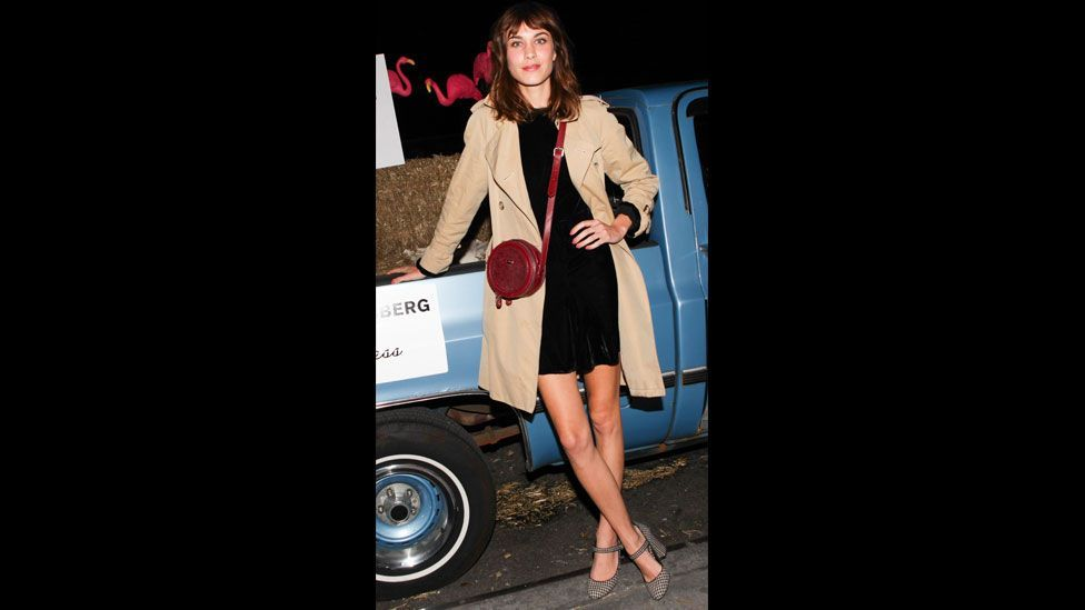 The trench has been reinvented as a modern British classic – it has been adopted by present-day trendsetters such as Alexa Chung. (BFAnyc.com/REX)