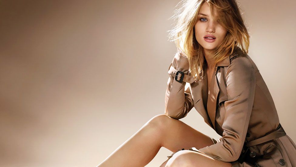 Burberry have successfully modernised and sexed-up their advertising campaigns, featuring big-name young models such as Rosie Huntington-Whiteley. (Burberry)
