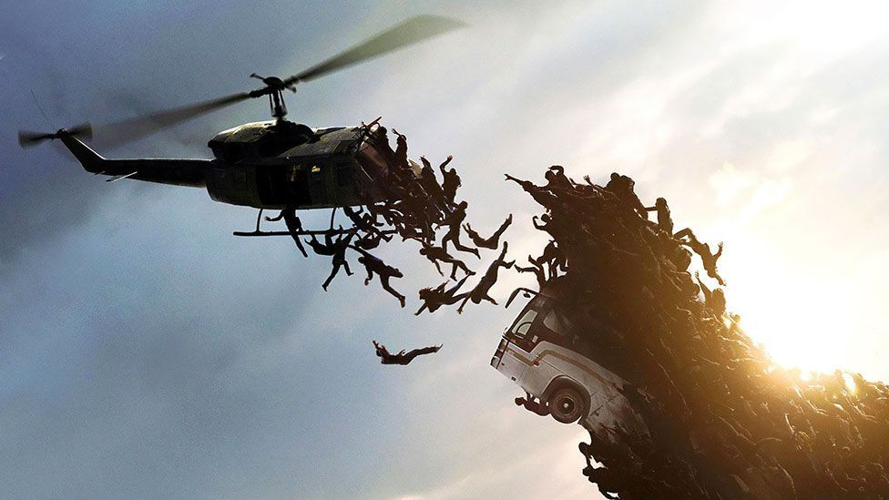 Brad Pitt starred in this year's box-office winner, World War Z, as a United Nations employee who tries to stop a zombie pandemic. (Paramount Pictures)