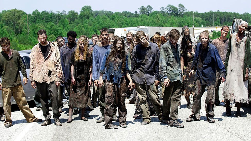 The Walking Dead is a popular horror series that premiered on US TV in 2010 and features a small group attempting to survive a zombie apocalypse. (AMC)