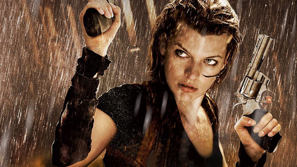 Directed by Paul WS Anderson, Resident Evil is a 2002 film about scientists who are turned into flesh-eating fiends after a laboratory accident. (Screen Gems)