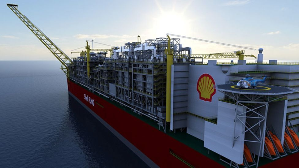 Shell is planning to build a massive floating structure, the Prelude Floating Liquefied Natural Gas facility, which could then be converted after gas is exploited. (Shell)