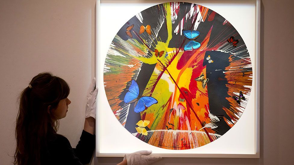 Recent sales of works by Damien Hirst have seen prices slump back to the levels they sold for at auction at in 2005/6. (Getty)