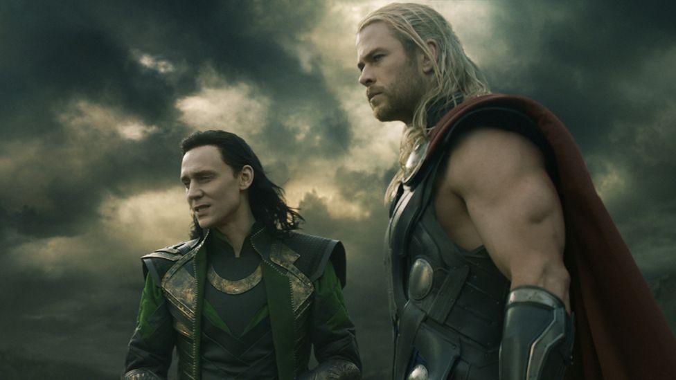 Like many comic book, sci-fi, or fantasy films, Thor: The Dark World, starring Tom Hiddleston and Chris Hemsworth, draws on Shakespearean inspiration.  (Marvel Studios)