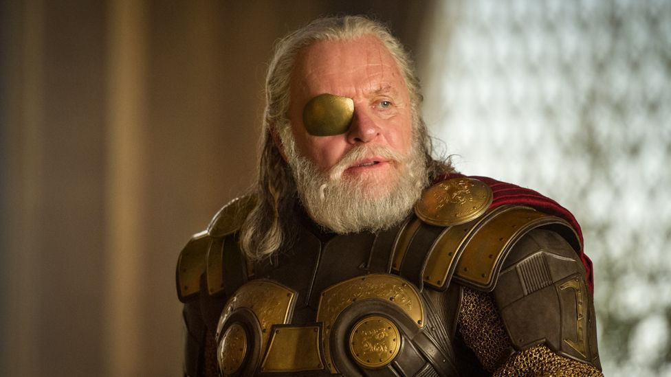 Kenneth Branagh directed 2011's Thor as a dialogue-heavy chamber drama about hubris, with Shakespeare veteran Anthony Hopkins mediating his sons' rivalry. (Marvel Studios)