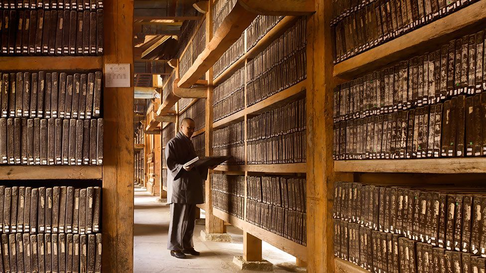 The Tripitaka Koreana is a vast collection of Buddhist scriptures carved onto wooden slabs in the 13th Century. (All photos: Will Pryce/Thames & Hudson)
