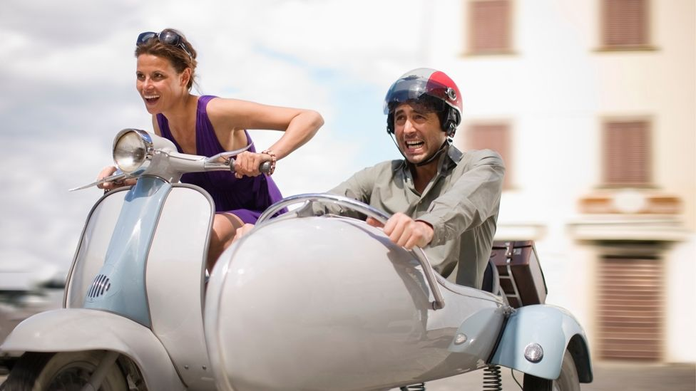 Vespas have been able to come in different configurations over the years, such as with a motorbike-style sidecar or with a third wheel. (Corbis)