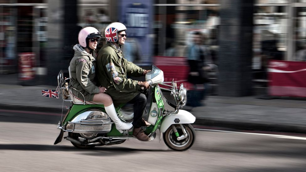 The 1960s Mod subculture was often associated with scooters like Vespas and Lambrettas, while their rivals, the Rockers, rode motorbikes. (Corbis)