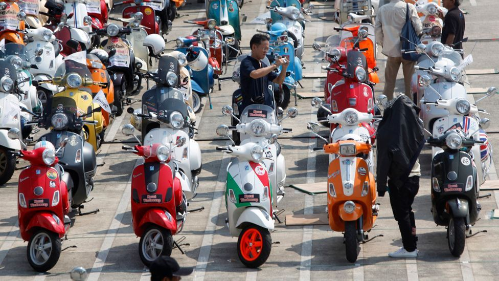 There have now been over 16 million Vespas produced in 13 countries across the globe. (Corbis)