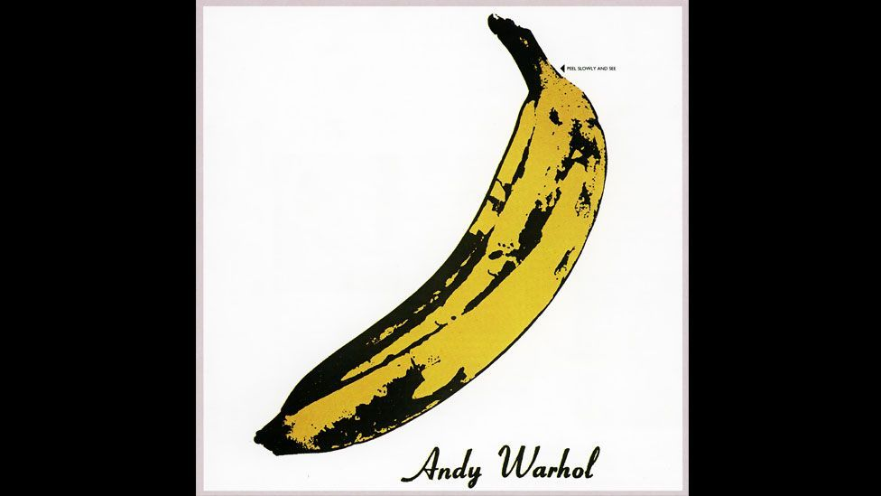Andy Warhol endorsed the band's first album and contributed this famous design for the 1967 album, The Velvet Underground & Nico. (Pictorial Press Ltd/Alamy)