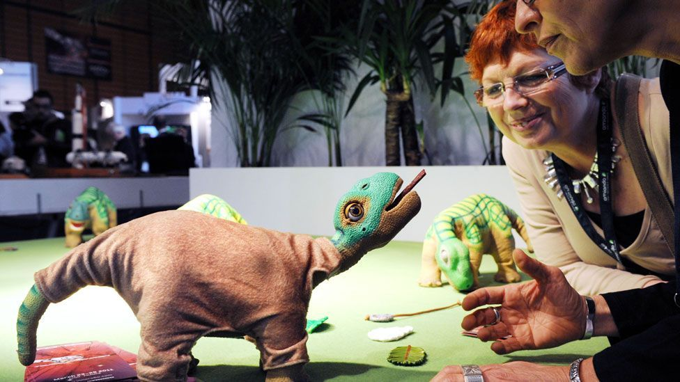 Watching Pleo the dinosaur being tortured prompts strong physiological and emotional reactions in people. (Philippe Merle /AFP/Getty)