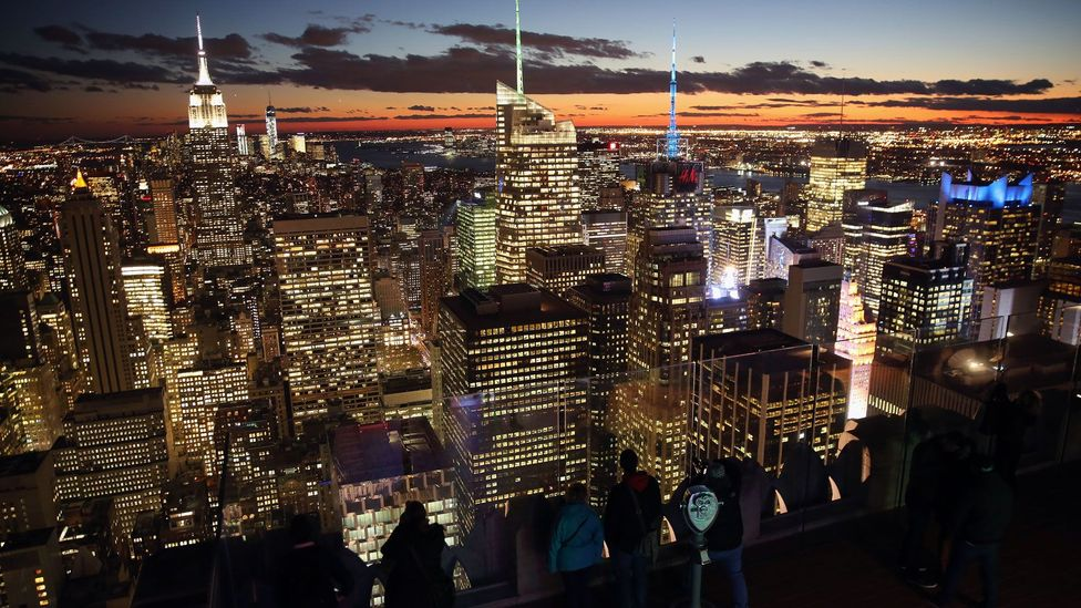 A view of Manhattan from the Top of the Rock observation deck