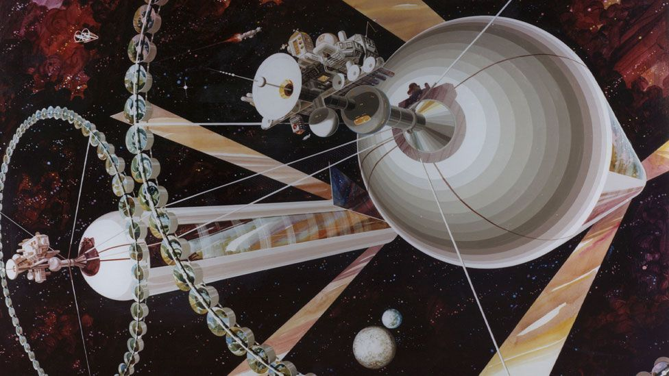 Space think tank British Interplanetary Society is reviving an ambitious idea from the 1970s to build huge colonies in space. (Nasa Ames Research Center)