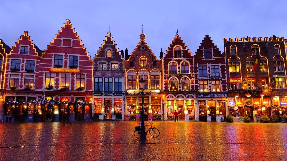 Bruges, Belgium, Europe, Christmas market, Market Square