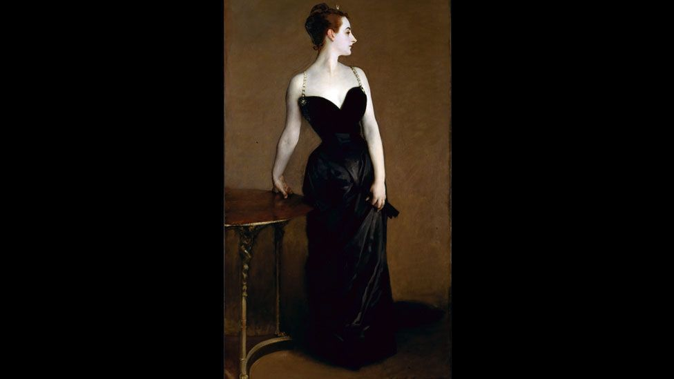 The revealing dress in John Singer Sargent's portrait of the socialite Virginie Gautreau (often known as the Portrait of Madame X) scandalized the Paris Salon in 1884. (Wikimedia)