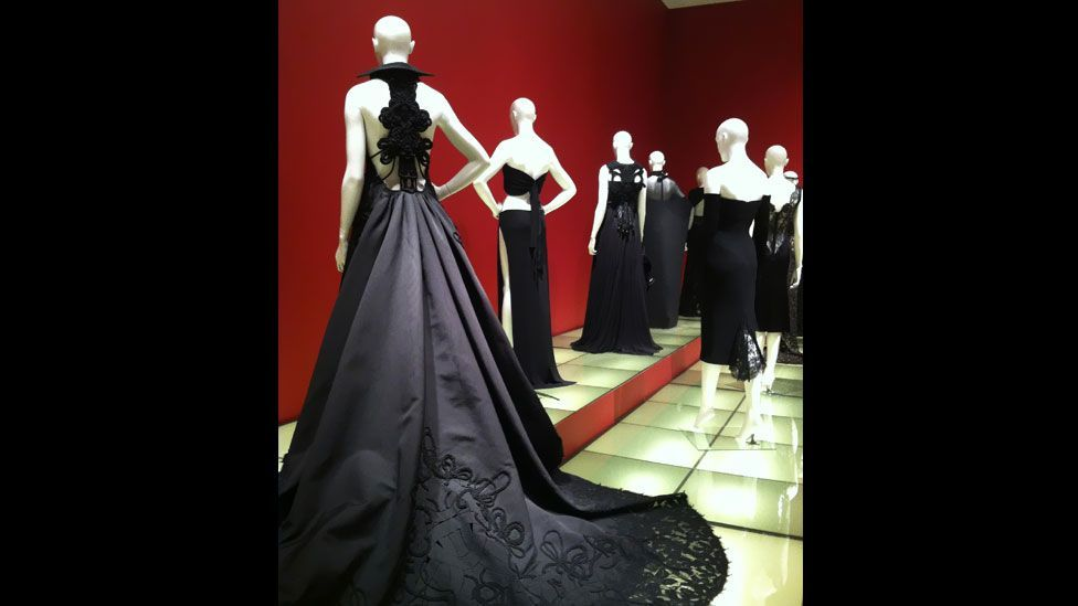 The exhibition was shown in Paris at the Mona Bismarck American Center for Art & Culture this year. It featured around 50 classic dresses from the fashion canon. (Adam Kuehl/SCAD)