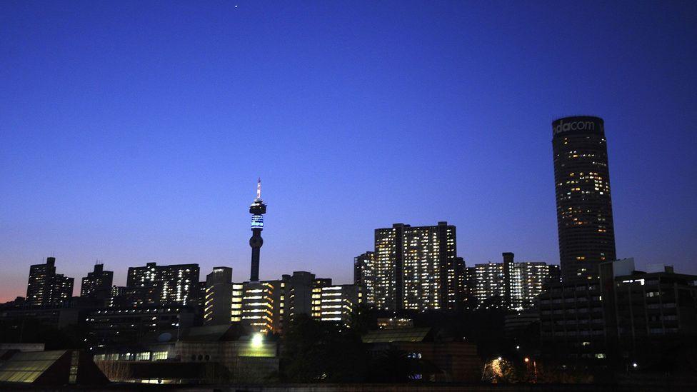 The Johannesburg skyline