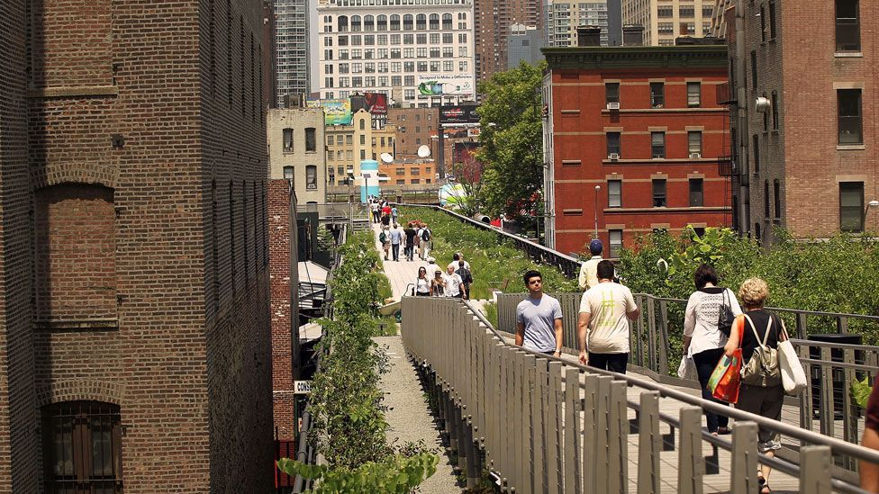 Greenery, space and red-brick houses tend to make people more happy. (Getty Images)