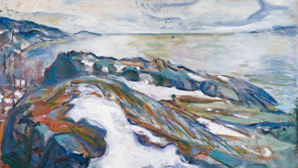 Winter Landscape by Edvard Munch (1915)