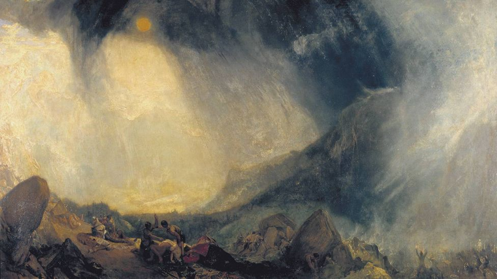 Snow Storm: Hannibal and his Army Crossing the Alps by JMW Turner (1812)