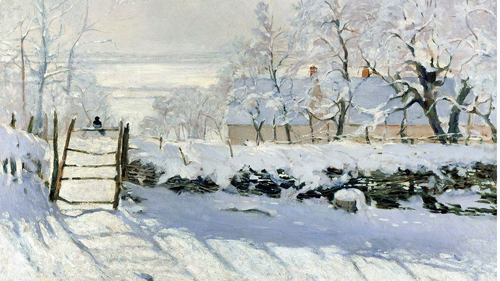 The Magpie by Claude Monet (1868-69)