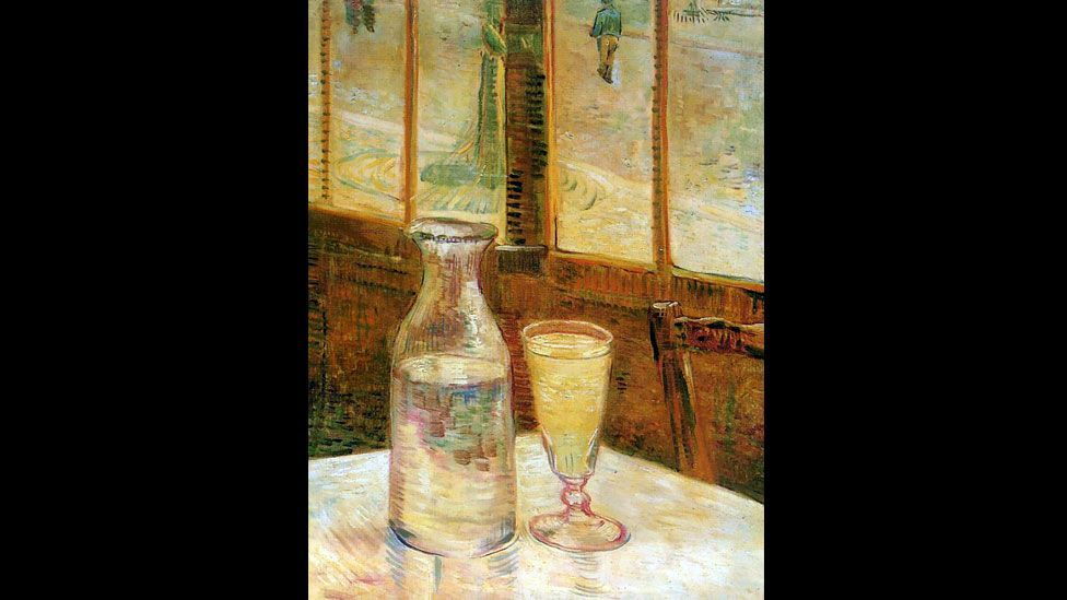 Vincent Van Gogh painted Still Life With Absinthe in 1887. Some think the drink drove him to cut off his ear and inspired the vivid greens in his work. (Wikimedia Commons)