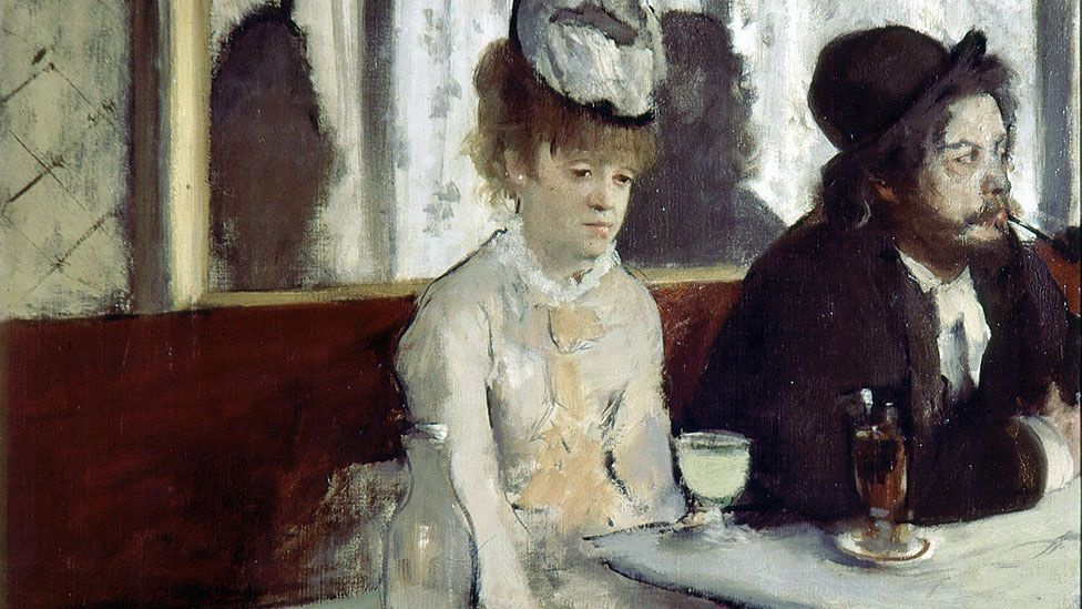 Absinthe inspired mixed feelings among the artists and writers who depicted it. Edgar Degas' Glass of Absinthe shows a woman made sullen by the drink. (The Art Archive/Alamy)