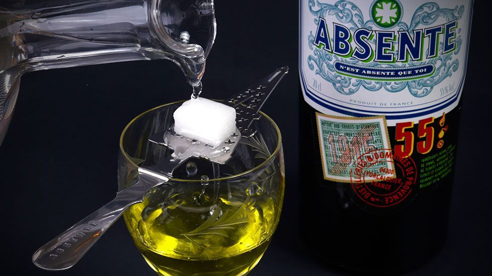 Absinthe, a green liquor known for its hallucinogenic effects and popular with legendary authors and artists, was banned for most of the past century. (Goran Heckler/Alamy)