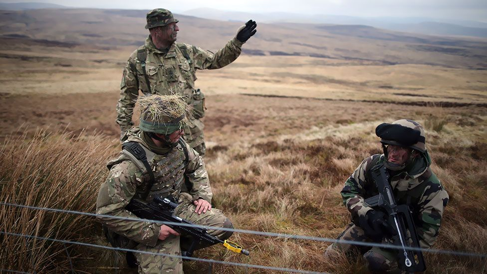 A remote part of Northumberland, England is the country's quietest spot – but only when training ceases at a nearby military base. (Christopher Furlong / Getty)