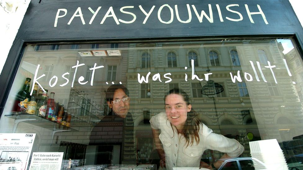 Natalie and Afzaal Deewan started the pay-as-you-wish scheme to attract customers. (Courtesy: Heribert Corn)