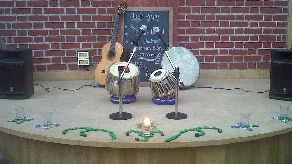 Pay-what-you-wish Seva Cafe in Ahmedabad, India hosts amateur music nights. (Seva Cafe)