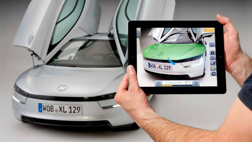 Using the Marta system, the car will provide instructions via a mobile device saying which parts are defective – and showing where they are. (Volkswagen)