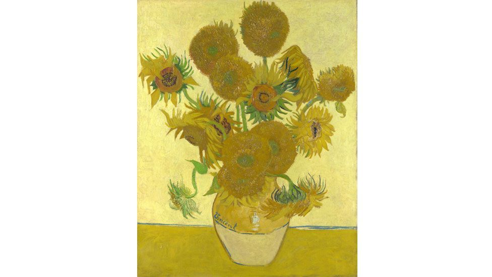 Van Gogh's most famous sunflower still life hangs at London's National Gallery.