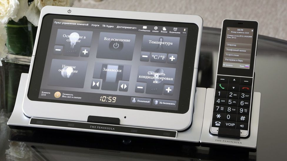 In 2012, the Peninsula Hong Kong installed bedside control panels that let guests change the thermostat, adjust the lighting or watch Internet TV. (The Peninsula Group)