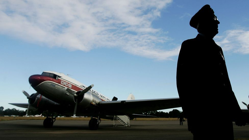 The Douglas DC-3 was a pioneering design for airliners; its sleek metal lines were a step up from the canvas biplanes of a few years before. (Getty Images)